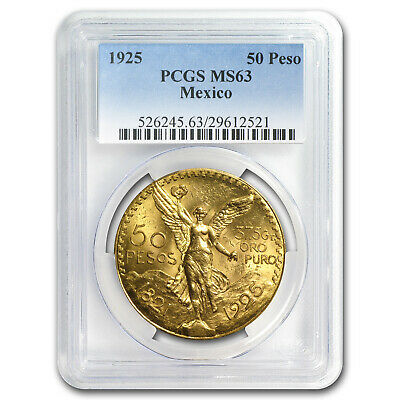 1925 Mexico Gold 50 Pesos MS-63 PCGS - SKU #83043