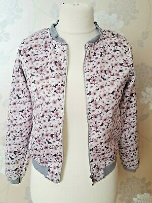 Zara  girls casual collection floral jacket  11 -  12 yrs