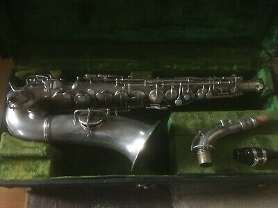 Vintage Conn New Wonder Series I Alto Saxophone, silver plated, 1924, microtuner