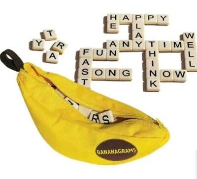 Bananagrams Board game Scrabble Like Anagrams 144 tiles New with Tags