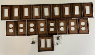 Lot Single Double Light Switch Outlet Plates Covers COPPER 2006 LHMC With Screws