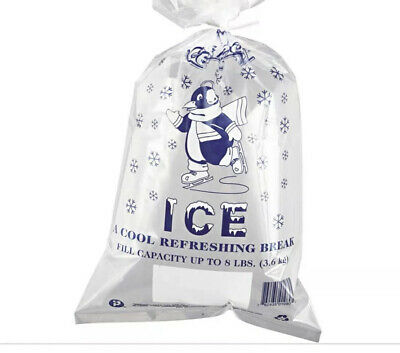 🇺🇸Top Quality Ice Bags 200/pcs • 8 Lb Capacity • 11 X 20 • 1.5 Mils Thickness