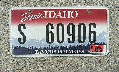1947 REAL IDAHO STATE LICENSE PLATE SKIER GRAPHIC AUTO NUMBER CAR TAG WONDERLAND