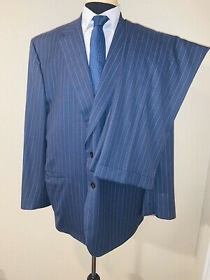 Stunning Tom James Royal Classic Holland And Sherry Tailored Suit Sz 48L 43X30