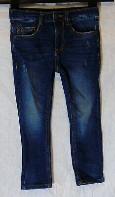 Boys Next Blue Whiskered Distressed Denim Adjustable Waist Jeans Age 4 Years