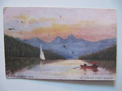 The Langdale Pikes (Lake District) - Vintage Tuck's Oilette Postcard (1906)