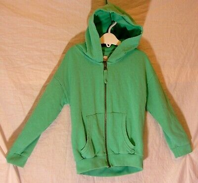 Girls Next Plain Mint Green Warm Zipped Hooded Jacket Hoodie Age 6 Years