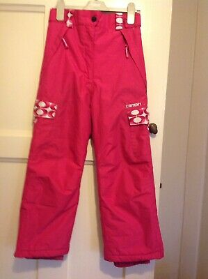 Girls Campri Snow Trousers Pink Age7/8