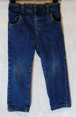 Boys Next Dark Blue Denim Adjustable Waist Regular Classic Jeans Age 2-3 Years