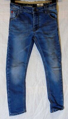 Boys Next Blue Whiskered Denim Adjustable Waist Classic Fit Jeans Age 6 Years