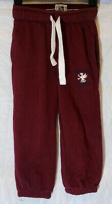 Boys Next Maroon Dark Red Drawstring Comfy Casual Cuffed Joggers Age 5 Years