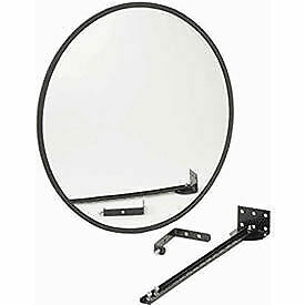 """Wide Angle Convex Safety Glass Mirror, 18"""" Diameter, Outdoor"""
