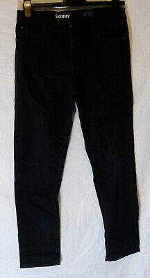 Boys Next Colour Wash Black Denim Adjustable Waist Skinny Jeans Age 15 Years