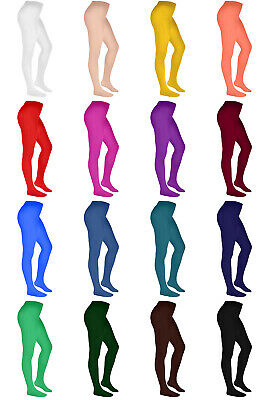 Girls Kids Soft Plain Semi Opaque Tights 40 Denier Rebecca 3-10 years