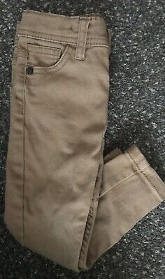 Boys Brown/beige Skinny Jeans 2-3 Years Denim Co, Used Excellent Condition