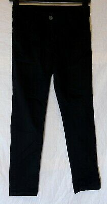 Boys George Plain Black Denim Adjustable Waist Regular Fit Jeans Age 10-11 Years