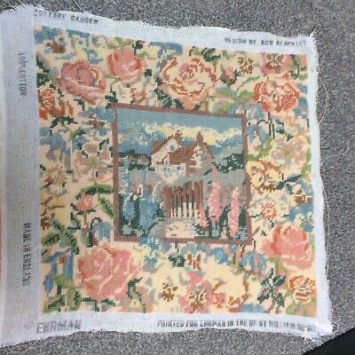 Ehrman Completed tapestry COTTAGE GARDEN by Ann Blockley 1991.RARE