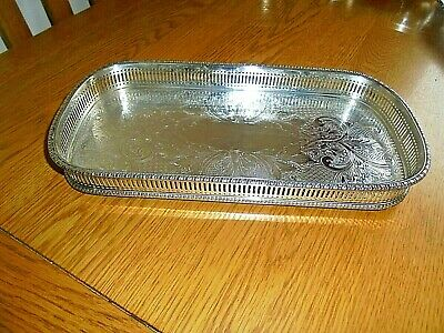 Lovely Sheffield Silver Plated on Copper Small Gallery Tray