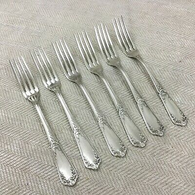 Antique French Cutlery Set Ercuis Louis XVI Table Forks Silver Plated