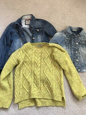 2 X Next Denim Girls Jackets And Jumper Bundle Age 9-10 Years Immaculate
