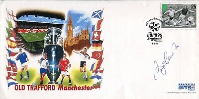 1966 World Cup winner Sir Bobby Charlton signed Old Trafford Manchester cover