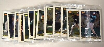 Lot Of (14) 1995 Topps Cyberstats Foil Team Set Redemption Packs Sealed BY1447