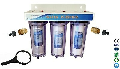 """3 Stage 10"""" HMA Heavy Metal Reduction, Window Cleaning Water Filter System"""