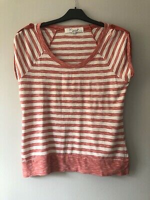 Next Pink And White Striped Top Size 14