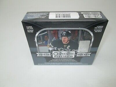 2015-16 Ud O-Pee-Chee Platinum Hockey Hobby Sealed Box