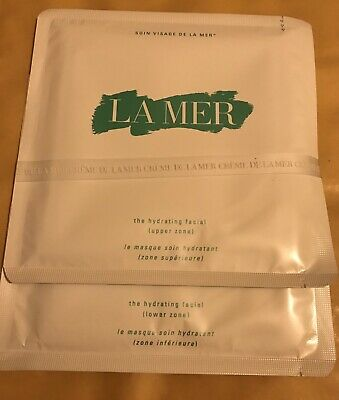 La Mer The Hydrating Facial 2 Sheets Upper Zone & Lower Zone New, Rrp £66