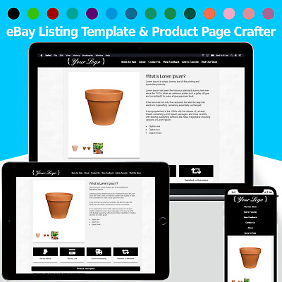 eBay Listing Template Mobile & Tablet Ready 2020 Compliant INSTANT DELIVERY [v2]