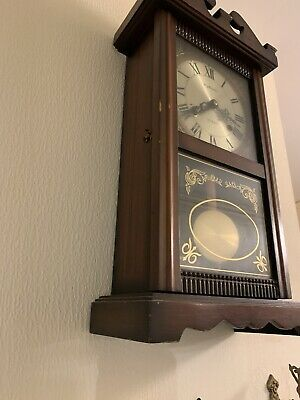 Vintage Wooden Highland 31 day Wall Clock