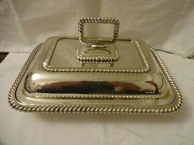 Vintage Silver Plated EPNS Serving Tureen B Worth & Sons, Sheffield 28 x 20 cm