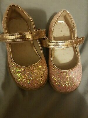 Baby Girls Pink Sparkly Glittery Shoes From Next Size 4 Infant