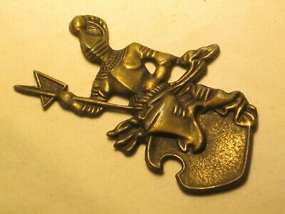 vintage knight emblem medieval style ornate ornament brass shield de *broke post