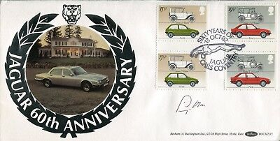 Benham Jaguar Cars FDC signed by Sir Stirling Moss