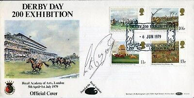 Benham Epsom Derby FDC signed by legendary jockey Lester Piggott