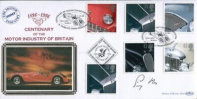 Benham British Motor Industry FDC signed by Sir Stirling Moss
