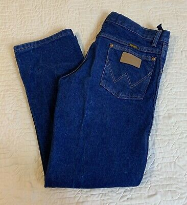 Wrangler Blue Jeans Boys Size 16 Husky Adjustable Waist Dark Youth Cowboy Cut