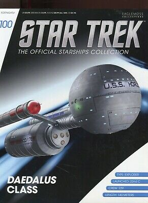Star Trek Official Starship Collection Number 100  - Daedalus Class - Brand New