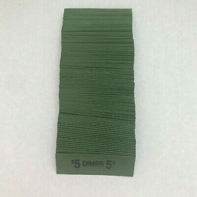 Flat Dime Coin Wrappers 100 Ten Cent Sleeves That Hold 50 Dimes Each