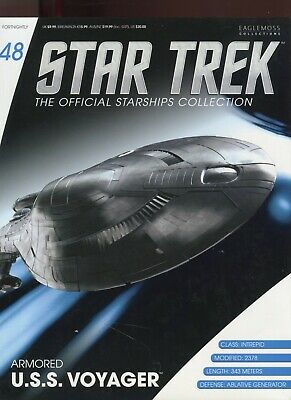 Star Trek Official Starship Collection Number 48 - U.S.S. Voyager - Brand New