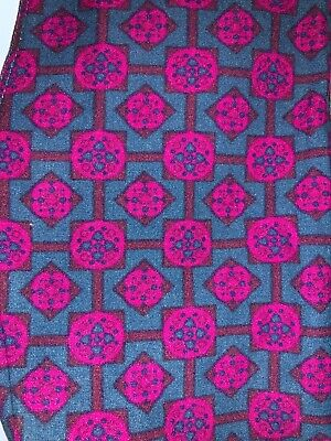 (BoxAA) LuLaRoe Kids Leggings L/XL New Teal W/ Maroon Pink Design