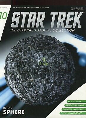 Star Trek Official Starship Collection Number 10 - Borg Sphere - Free Postage