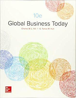Loose Leaf Global Business Today by Charles W. L. Hill (2017, Ringbound)