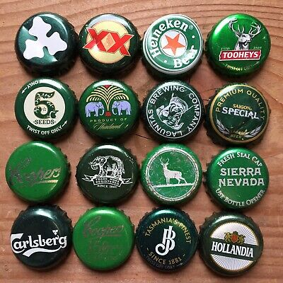 15 x GREEN Mixed Crown Seal Bottle Tops Caps