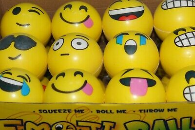 Moody Smiley Emoji Soft Kids Adults Stress Ball Squishy Party Bag Novelty Filler