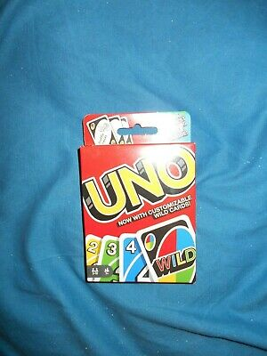 Mattel's Uno Card Game With Customizable Wild Cards