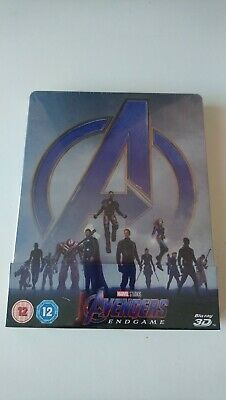 Avengers Endgame Blu Ray Steelbook 3D /2D Zavvi Exclusive  New And Sealed