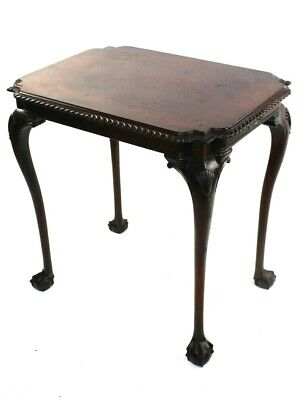 Chippendale Mahogany Occasional Table with Ball and Claw Feet 18C [5822]